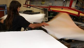 Our printing department in action.